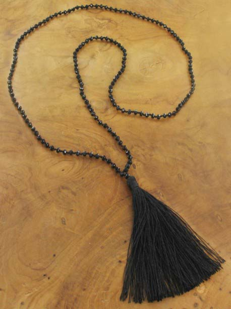Black tassle Necklace